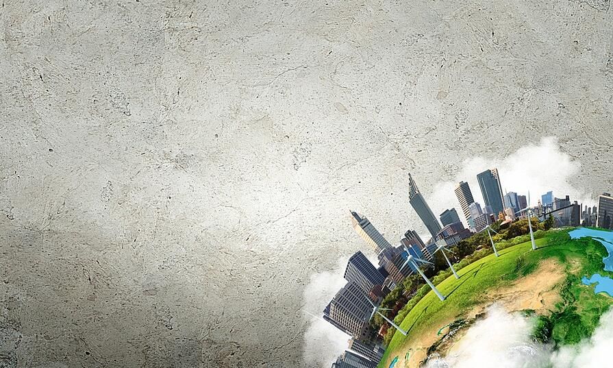 Conceptual image of city landscape. Elements of this image are furnished by NASA